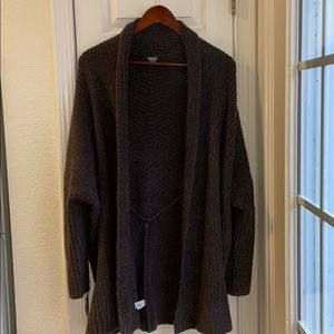 Aerie charcoal cardigan sweater